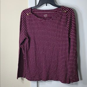 J.Crew Painter Tee burgundy/white-striped top